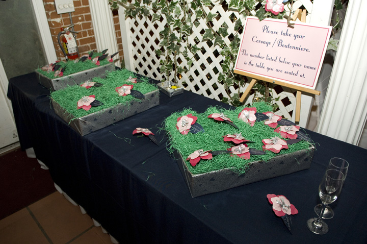 The Escort Corsage Table