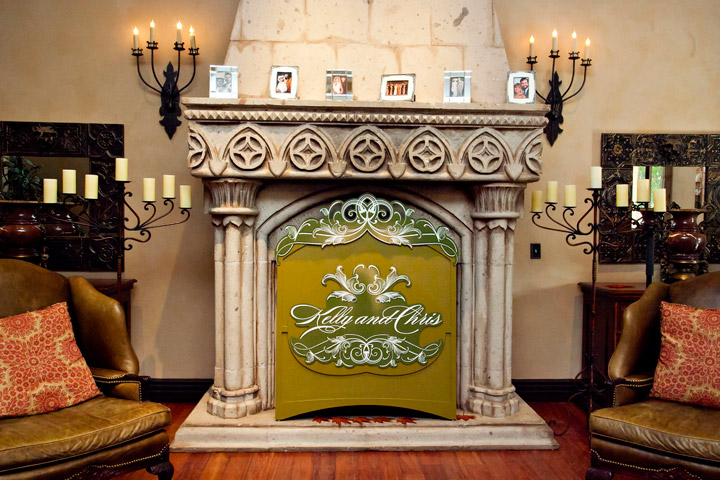 Fireplace Monogram Cover