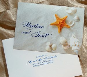 Beach and Shells Thank You Cards