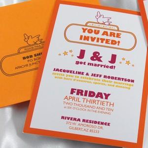 Marquee Monogram Wedding Invitation