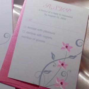 Cherry Blossoms Wedding Invitation