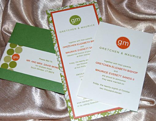 Circle Monogram Wedding Invitation