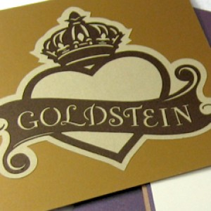 Cutout Crown Heart Wedding Invitation