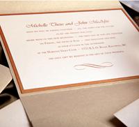 Simple Layered Pocket Wedding Invitation