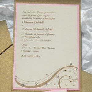 Stars & Swirls Pocket Wedding Invitation