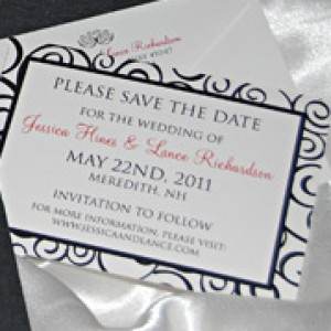 Swirly Pattern Wedding Invitation Suite