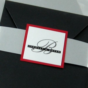 Monogram Belly Band Pocket Invitation – Seal