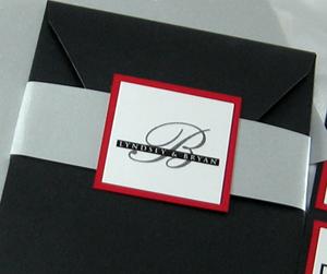 Monogram Belly Band Pocket Invitation – Seal