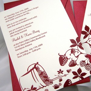 Strawberry Design Wedding Invitation
