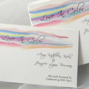 LGBT Watercolor Wedding Invitation