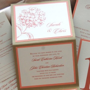 Hydrangeas Z-Fold Wedding Invitation