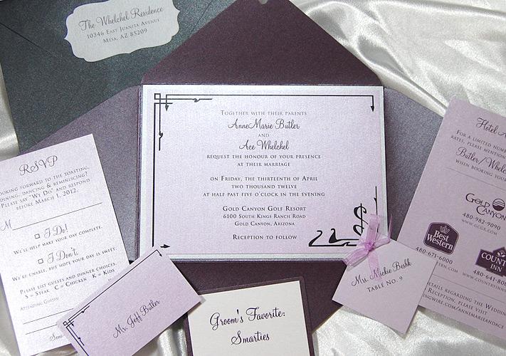 Count of Monte Cristo Wedding Invitation