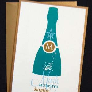 Champagne Bottle Birthday Party Invitation