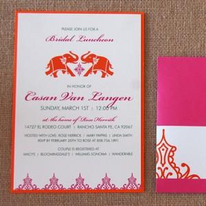 Indian Elephant Bridal Luncheon Invitation