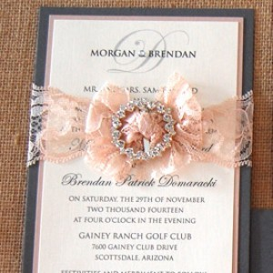 Layered Lace and Brooch Wedding Items