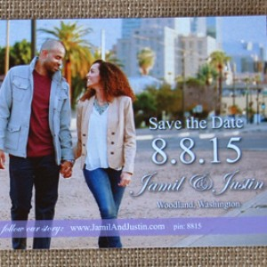 Photo Save the Date & Infinity Wedding Invite