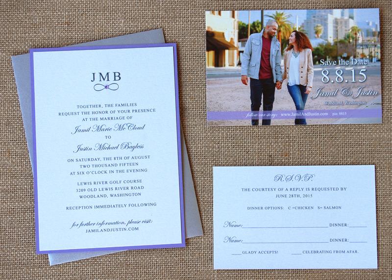 Photo Save the Date & Infinity Wedding Invite