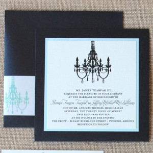 Chandelier Pocket Card Wedding Invitation