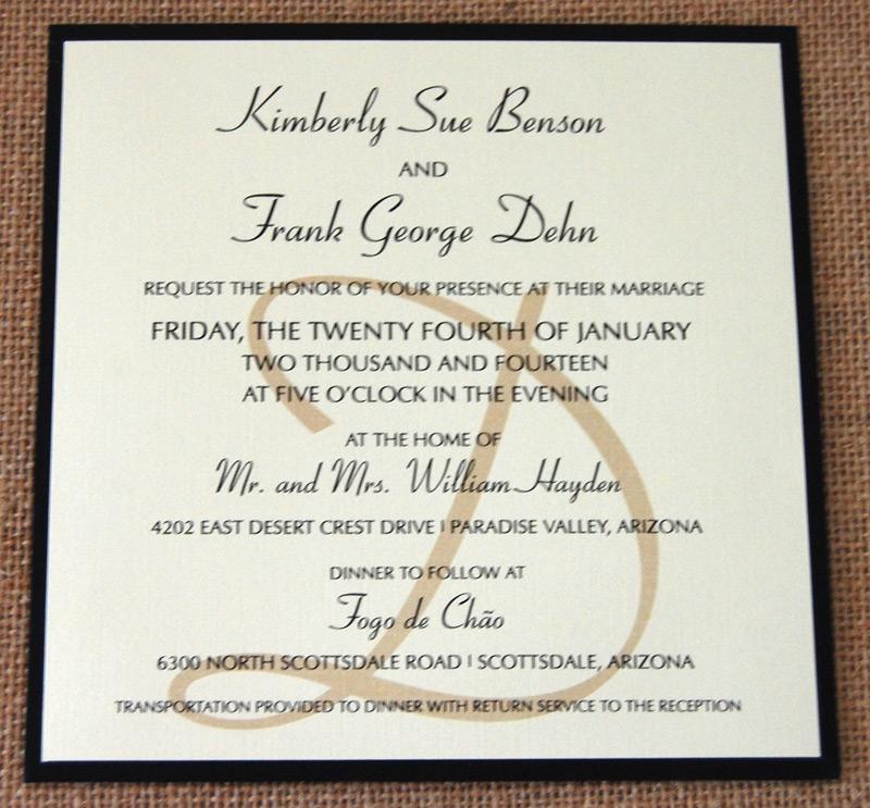 Black Stripes Pocket Wedding Invitation 1 of 2