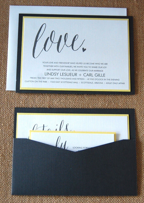 Love Modern Pocketcard Wedding Invitation