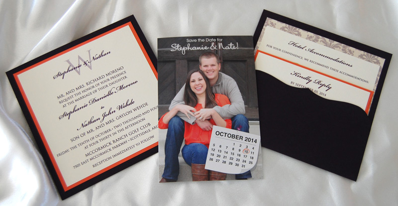 Photo Save The Date and Pocketcard Invitation