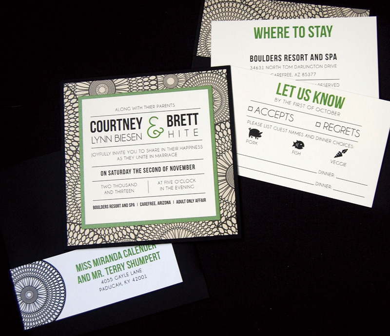 Square Pocketcard Wedding Invitation