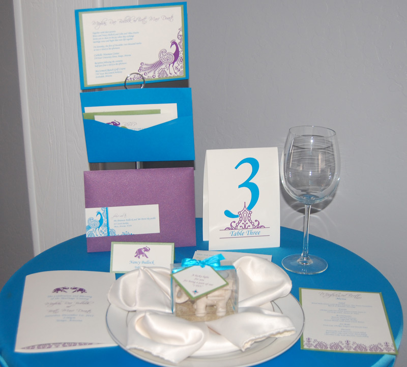 Peacock and Elephant Reception Items