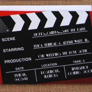 Red Movie Ticket Wedding Invitation