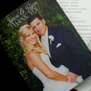 Wedding Photos Thank You Cards
