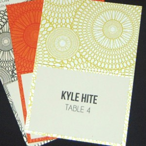 Geometric Patterned Menu and Table Number