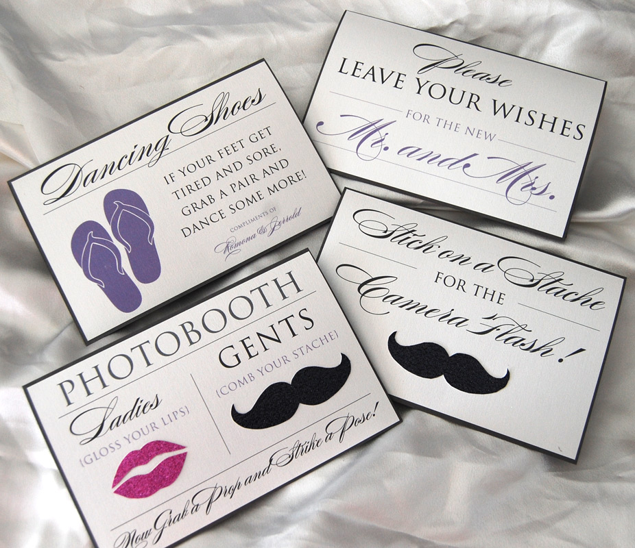 Photobooth and Guest Book Reception Items