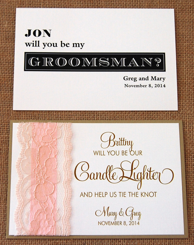 Will You Be My Wedding Party Cards