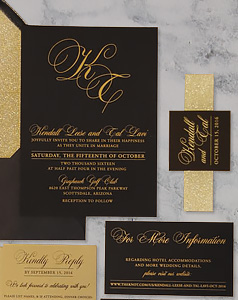 BLACK_AND_GOLD_INK_GLITTER_BELLY_BAND_INVITE_SUITE
