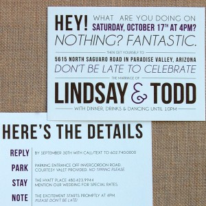 Modern Mixed Fonts Double-Sided Invitation