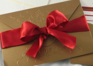 Carla's Embossed Ribbon Invite
