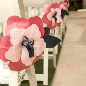 Aisle Flower Chair Decorations