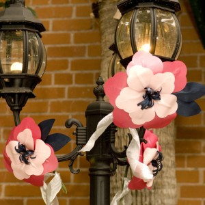 Lamp Post Flower Decoration