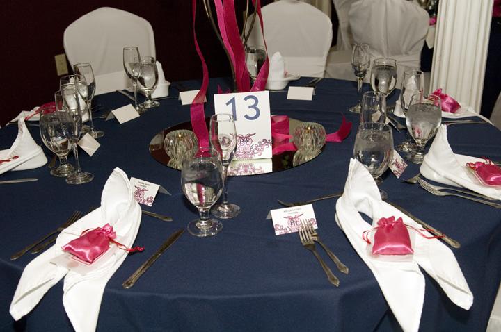 Table Decoration Setup