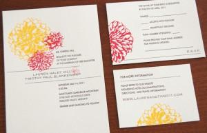 Lauren Hill's Letterpress Invite Suite
