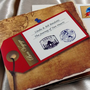 Travelers Booklet Wedding Invitation