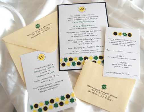 Circles RSVP and Wedding Invitation