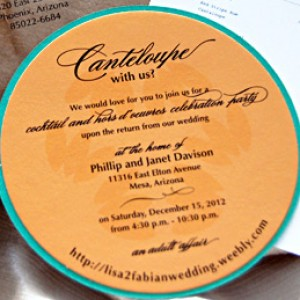 Destination Canteloupe Wedding Invitation