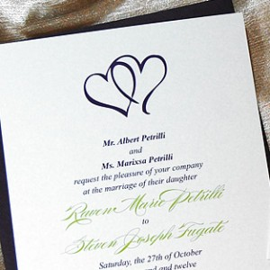 Two Hearts Wedding Invitation