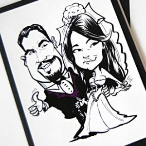 Drawing Portrait Wedding Invitation