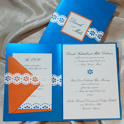 Lacey Belly Band Wedding Invitation