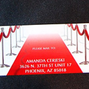 Red Carpet Folded Wedding Invitation