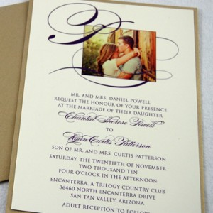 Photo & Initial Wedding Invitation