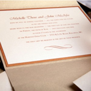 Simple Layered Pocket Wedding Invitation