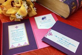 Moroccan Design Pocket Wedding Invitation