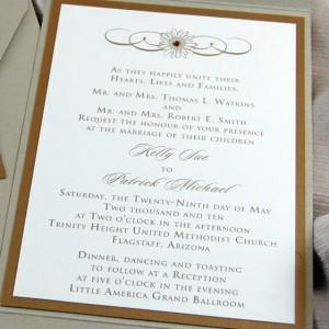 Sunflower & Rhinestone Wedding Invitation